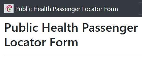 Public health passenger locator form België